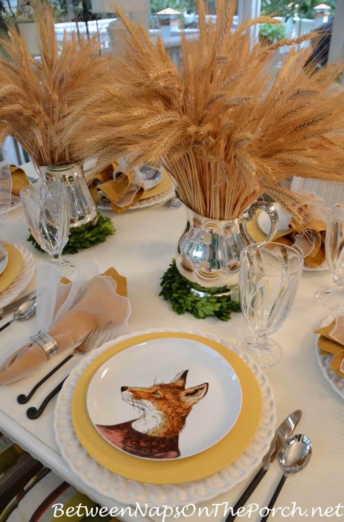 Fox Salad Plate In An Autumn Table Setting_wm