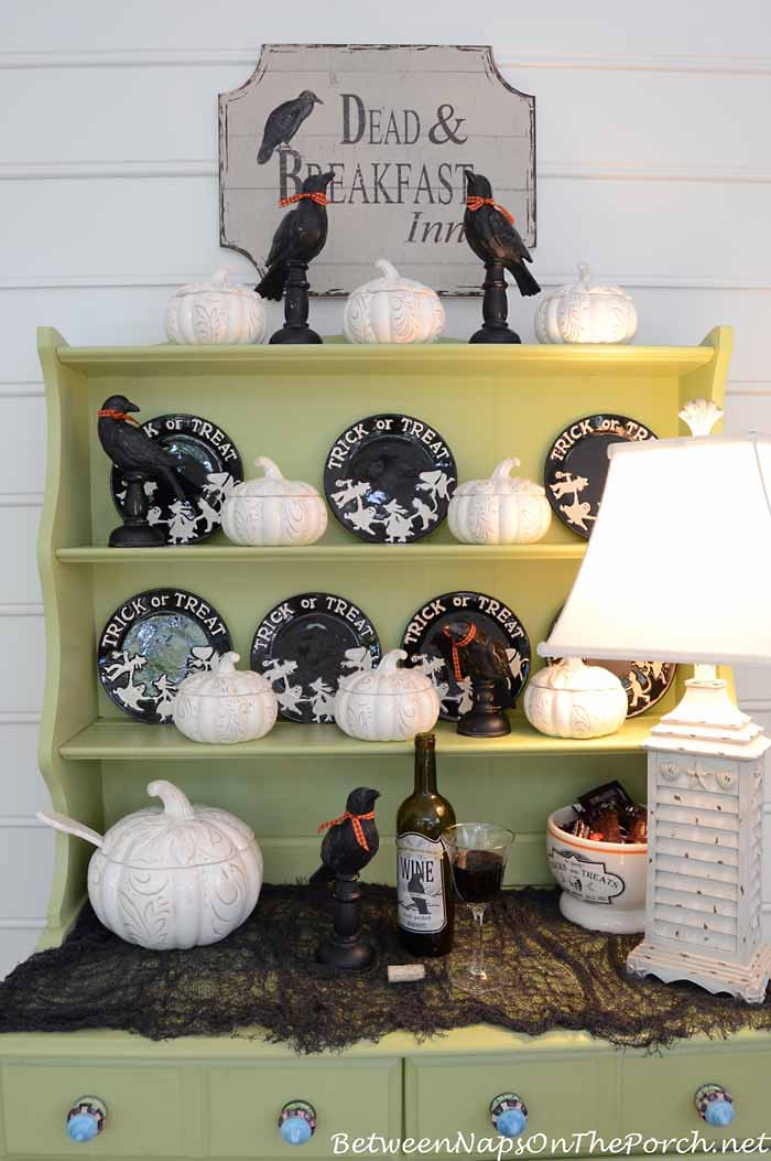 Halloween Crows and Pumpkin Tureens