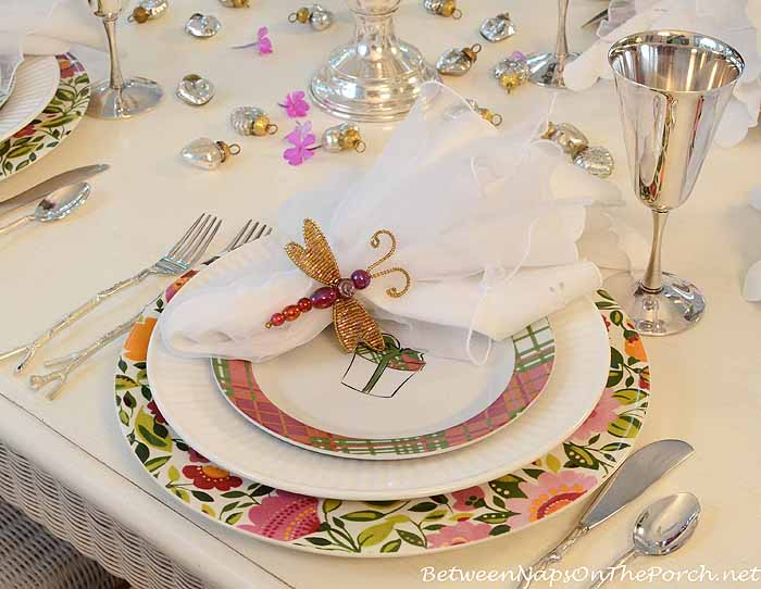 Kim Parker Emma's Garland Floral Chargers in Birthday Party Table Setting