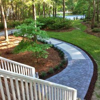 Concrete Walkway Transformed With Beautiful Cobble-Stone Pavers
