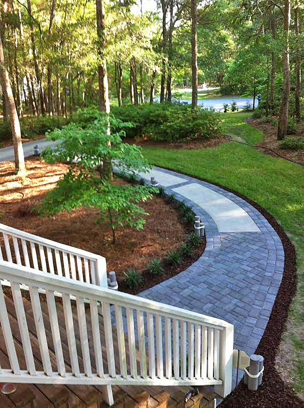 Makeover a Concrete Walkway with Pavers