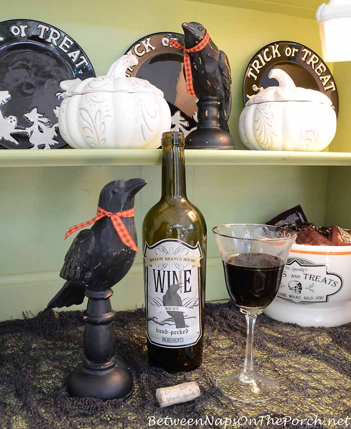Martha Stewart Halloween Labels for Wine Bottles