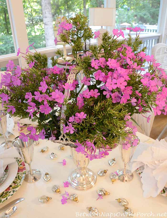 Purple Phlox Table Centerpiece