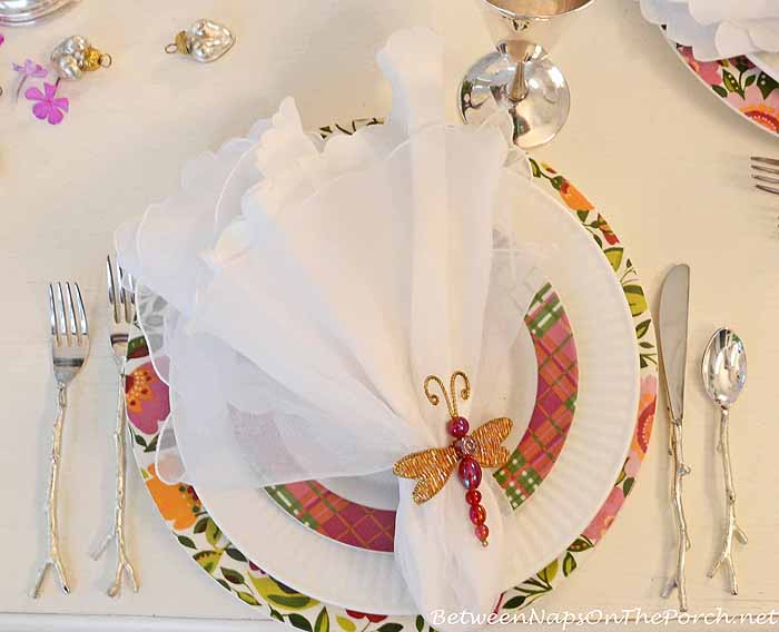 Silver Twig Flatware Table Setting