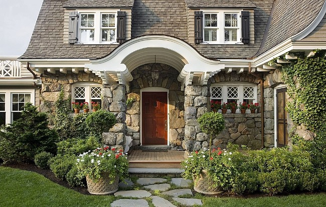 Storybook Gambrel-style Cottage and Gardens