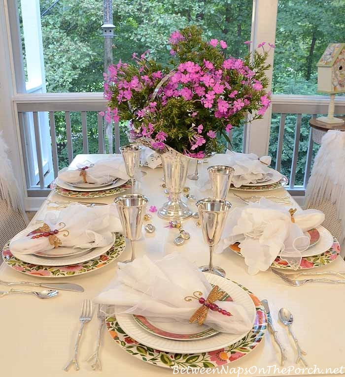 Birthday Party Mothers Day or Bridal Shower Table Setting Tablescape
