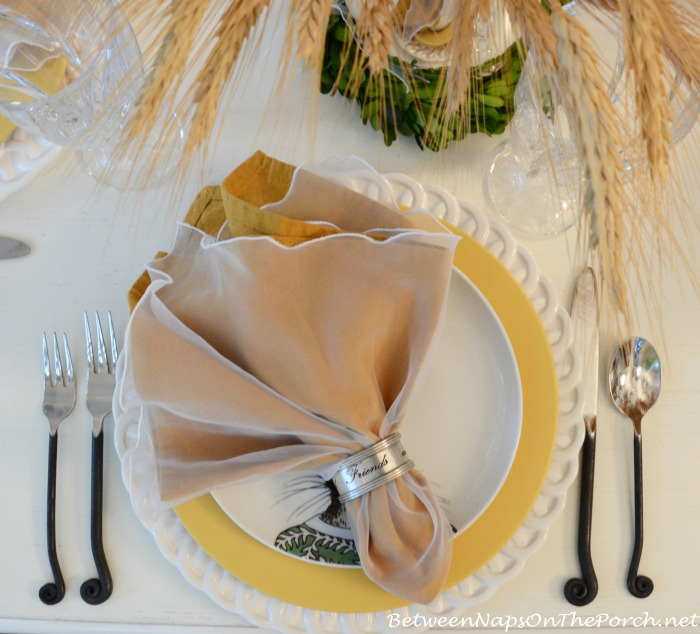 Table Setting With Silver Family & Friends Napkin Rings_wm