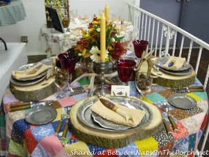 Western, Lodge, Cabin Themed Table Setting Tablescape