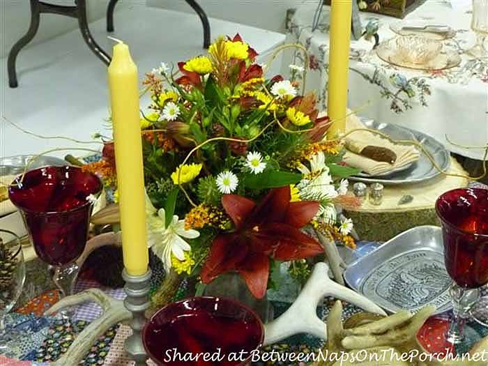 Western, Lodge, Cabin Themed Table Setting Tablescape 12