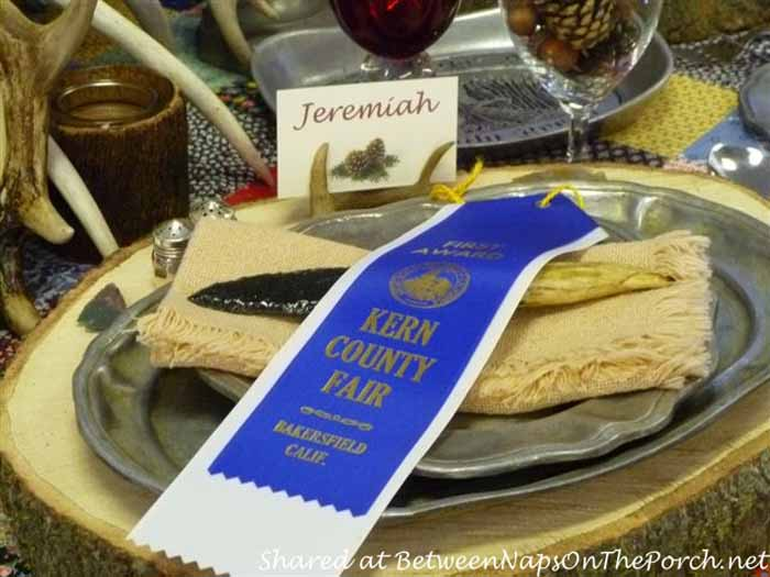 Western Themed Table Setting Wins 1st Place At The Fair