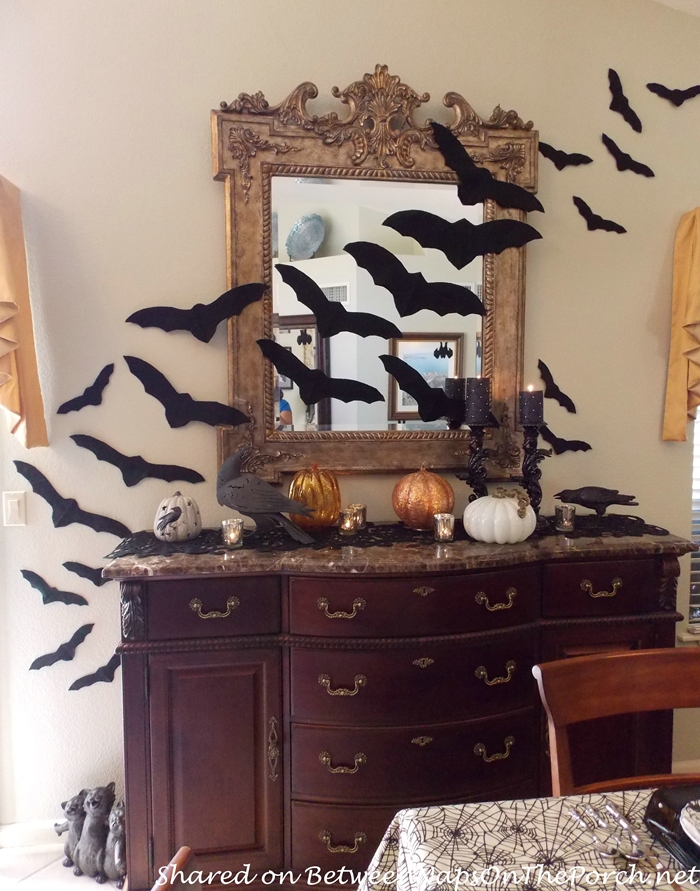 Bats Across a Mirror For Halloween
