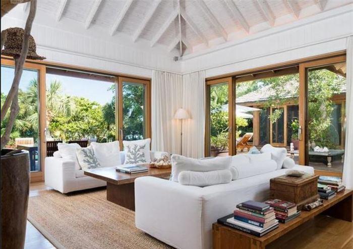 Christie Brinkley's Beach House Living Room