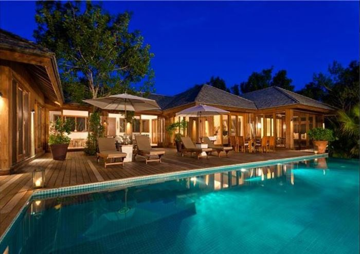 Christie Brinkley's Beach House Pool in Parrot Cay
