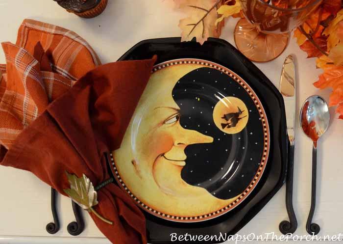 David Carter Brown Pumpkin Hollow Halloween Plates 4