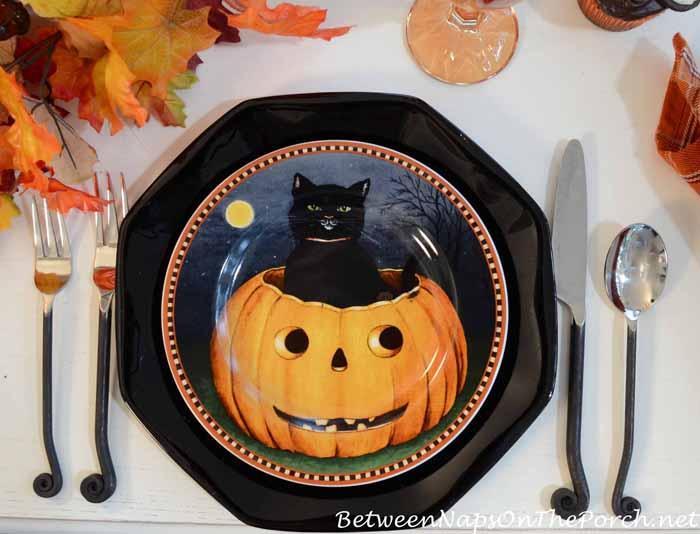 David Carter Brown Pumpkin Hollow Halloween Plates 5