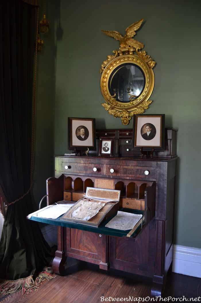Desk in Gentlemen's Study, Nottoway Plantation