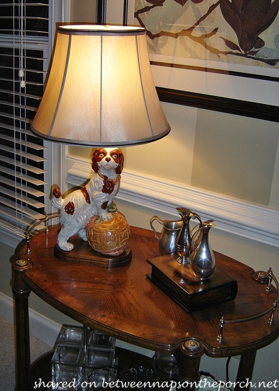 Dog Lamp Made from a Dog Figurine_wm