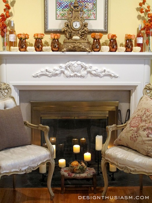 Fall Mantel from Design Enthusiasm