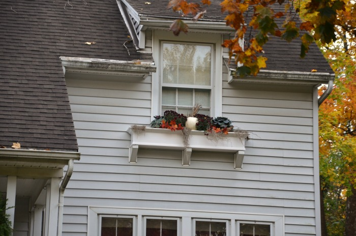 Fall Windowbox Planting with Pumpkin