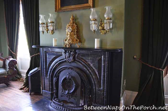 Gentlemen's Study Fireplace, Nottoway Plantation
