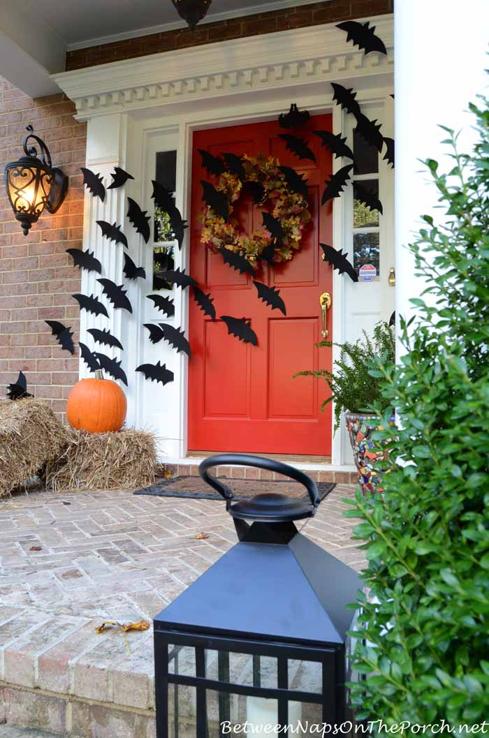 = Halloween Porch Decorations With Flying Ba