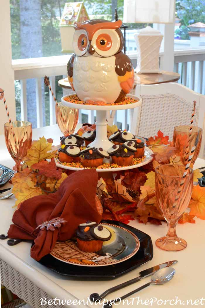 Halloween Table Setting With David Carter Brown Pumpkin Hollow Plates
