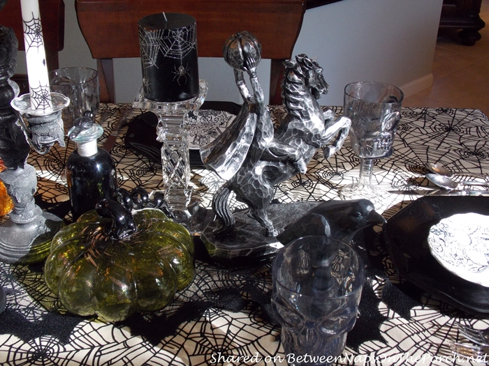 Headless Horseman in Halloween Tablescape