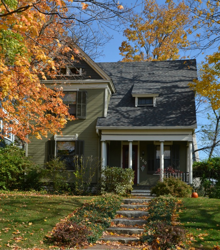 Historic Home in Autumn