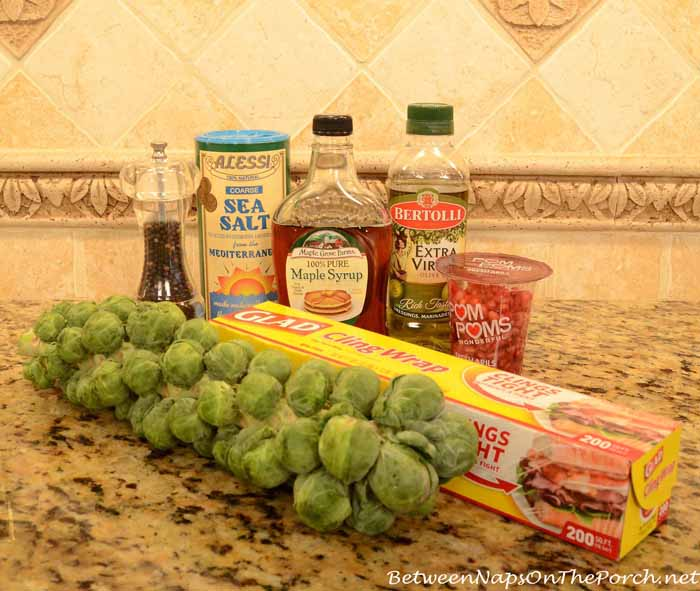 Ingredients Needed to Roast Brussels Sprouts on Stalk