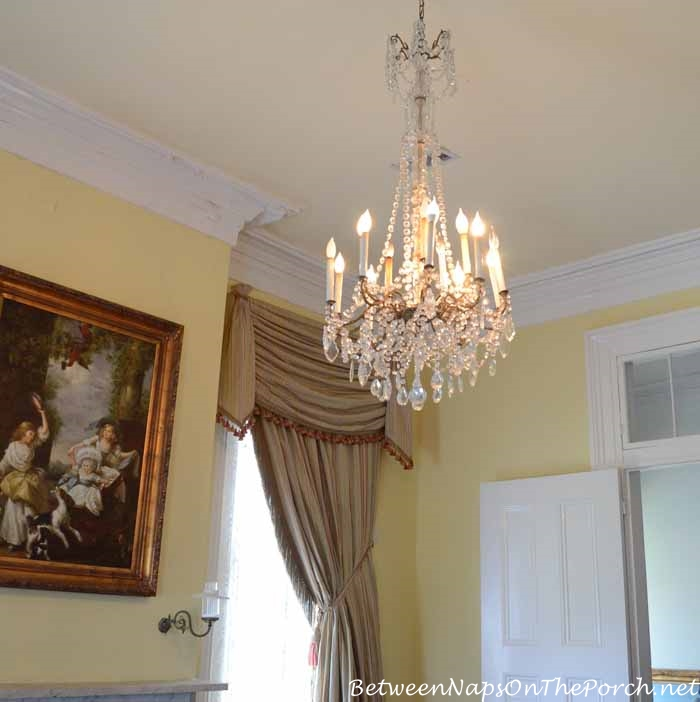 Nottoway Plantation Chandelier in Music Room