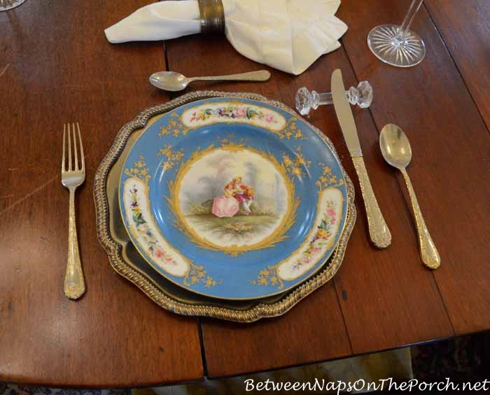 Nottoway Plantation China in Dining Room