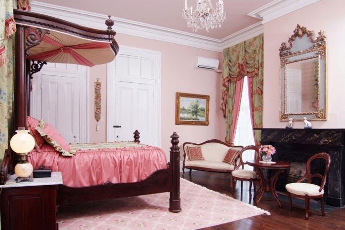 Nottoway Plantation Pink Bedroom