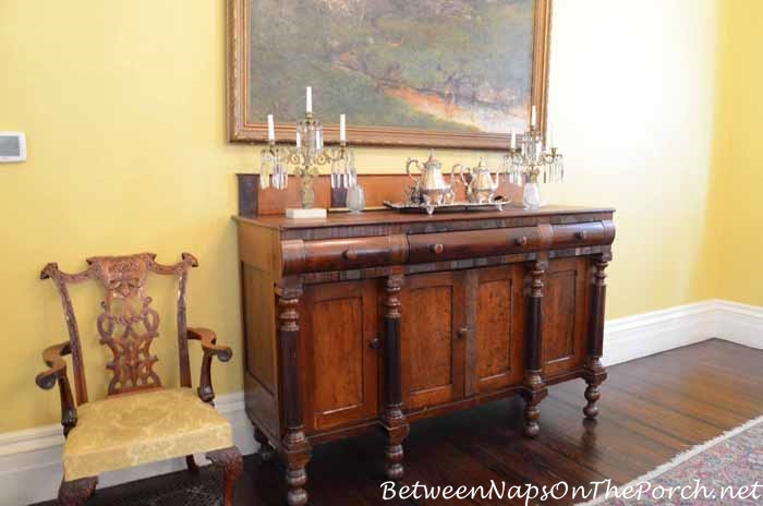 Nottoway Plantation sideboard in Dining Room