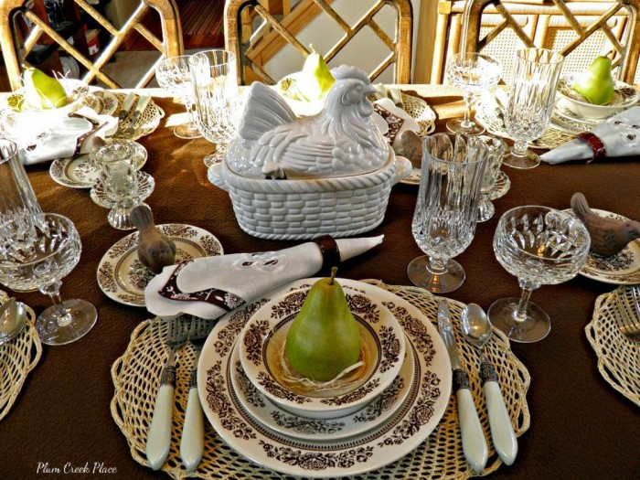 Plum Creek Place Vintage Tablesetting