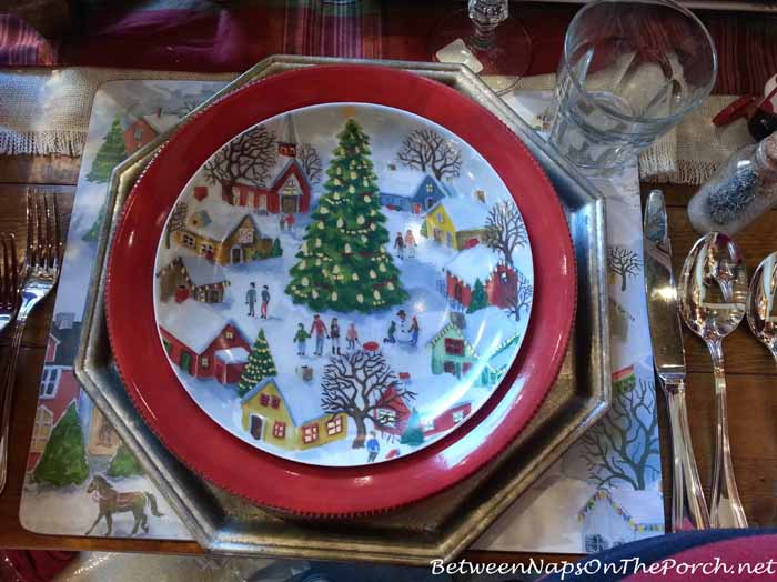 Pottery Barn Winter Village Plates