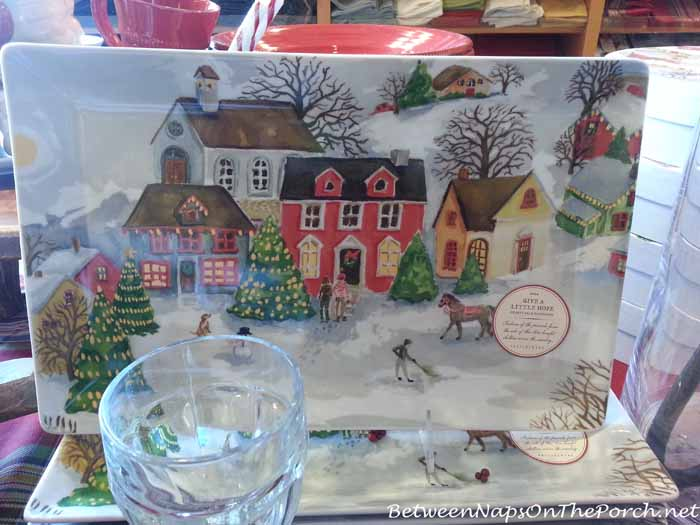 Pottery Barn Winter Village Platter