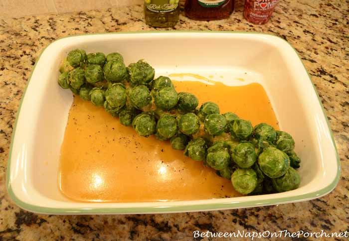 Recipe for Roasting Brussels Sprouts on the Stalk