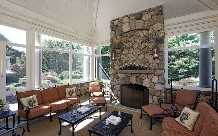 Screened Porch in Greenwich