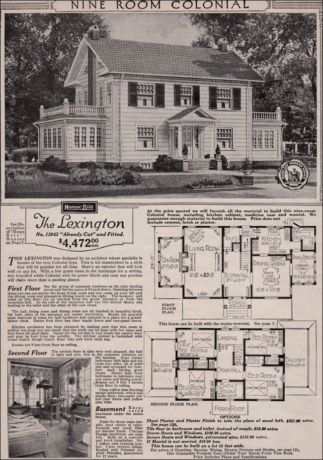 Sears, Roebuck Mail Order Home, The Lexington