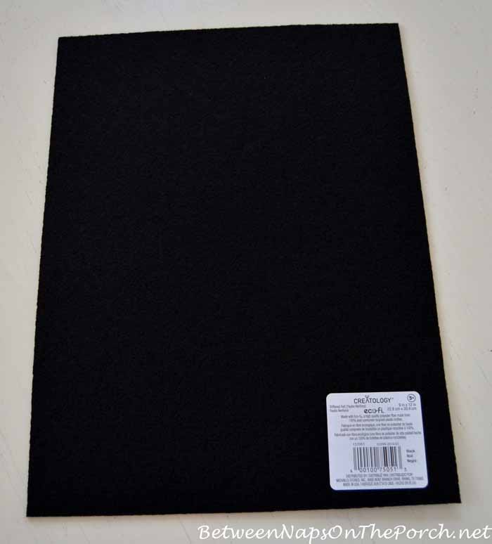 Stiffened Black Felt