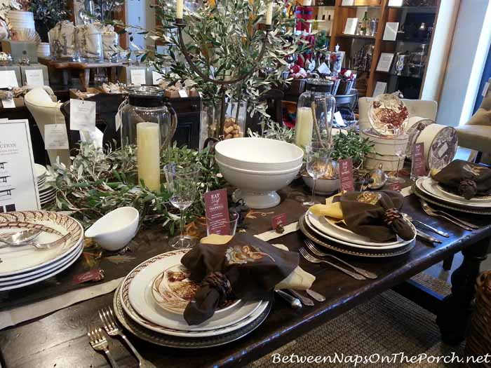 Thanksgiving Table Setting with Pottery Barn Pheasant Plates