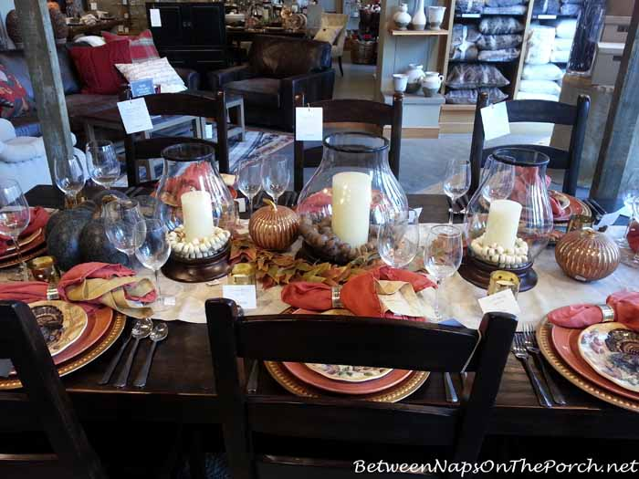 Thanksgiving Tablescape with Pottery Barn Turkey Plates