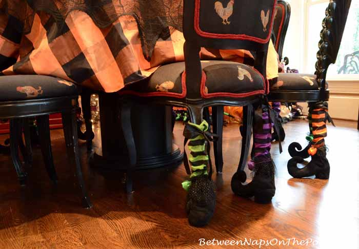 Witches Stockings Shoes for Chairs