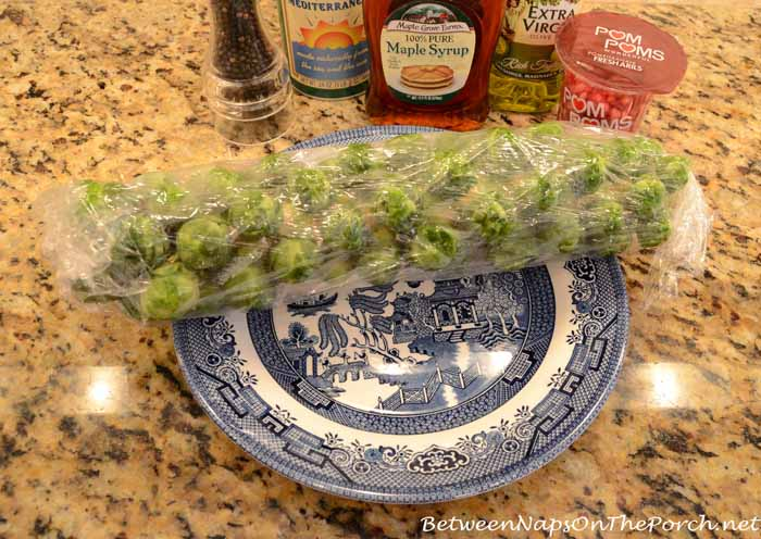 Wrap Brussels Sprouts in Cling Wrap