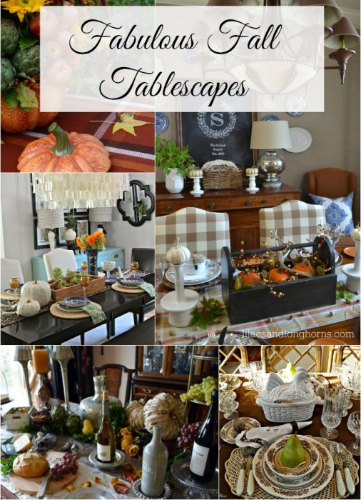 Five Fabulous Fall Tablescapes  via Between Naps on the Porch