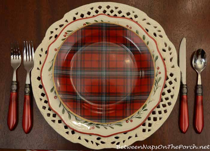 Tartan dishware mix match patterns to create 17 unique place settings Bhg g