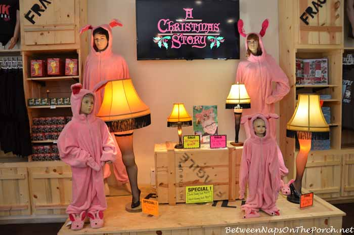 Bunny Suit in the A Christmas Story House Gift Shop