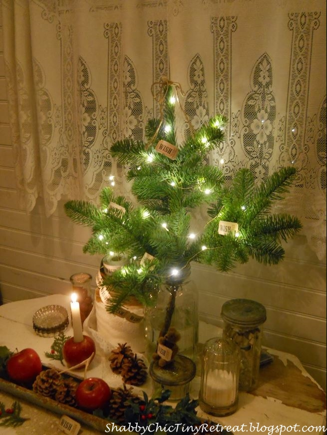 Christmas Decorating with Apples, Pine Cones and a Sweet Little Tree