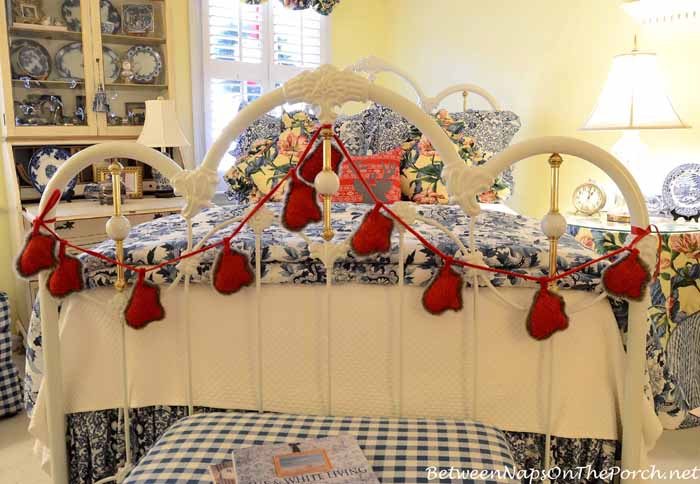 Decorate Bed With Whimsical Garland