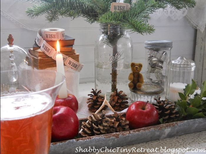 Decorate with Apples and Pinecones For Christmas